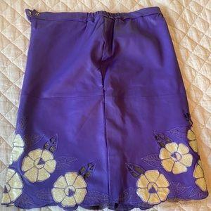 Vintage purple leather skirt xxl but fits like xl